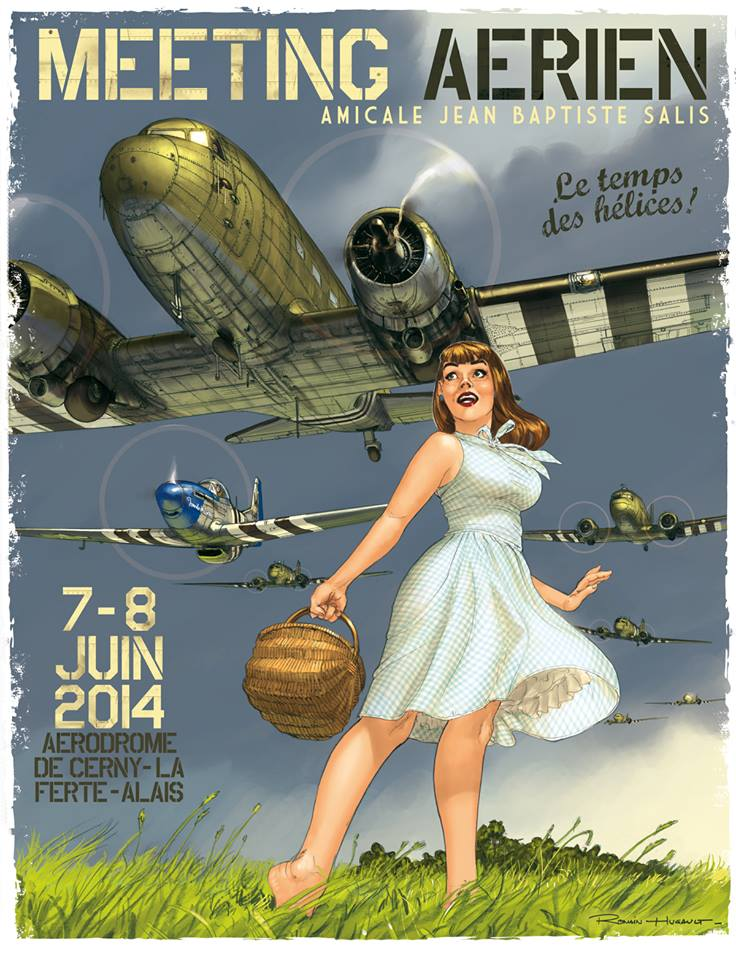 Affiche officielle du Meeting aérien Ferté-Alais 2014